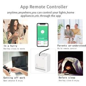 Image 2 - Aqara Smart Zwei weg Control Modul Zigbee Drahtlose Relais fernbedienung licht schalter Arbeit mit Xiaomi Mi Hause HomeKit APP