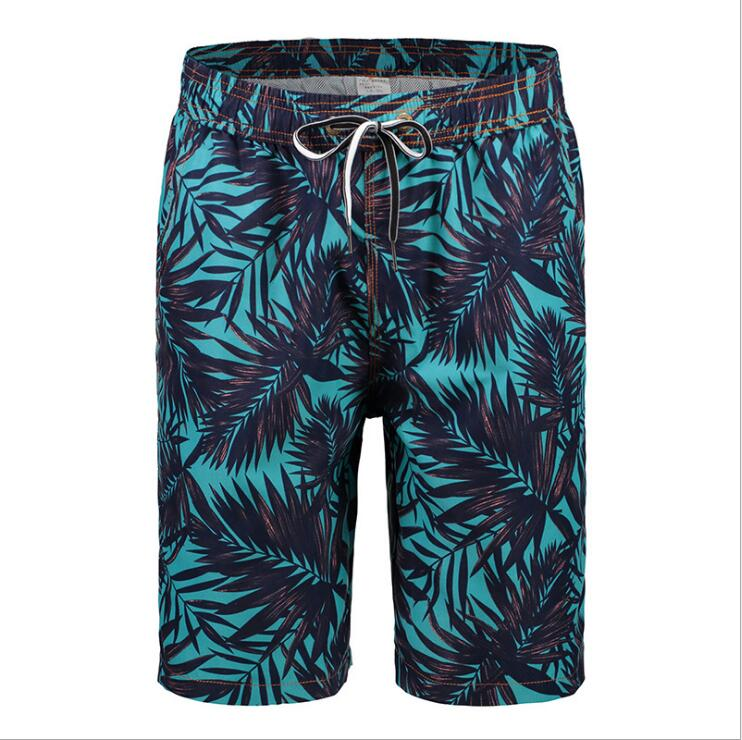 XHS30 Men's Shorts In Summer, American And European Four-point Printed Beach Trousers, Men's Fast Dry Surfing