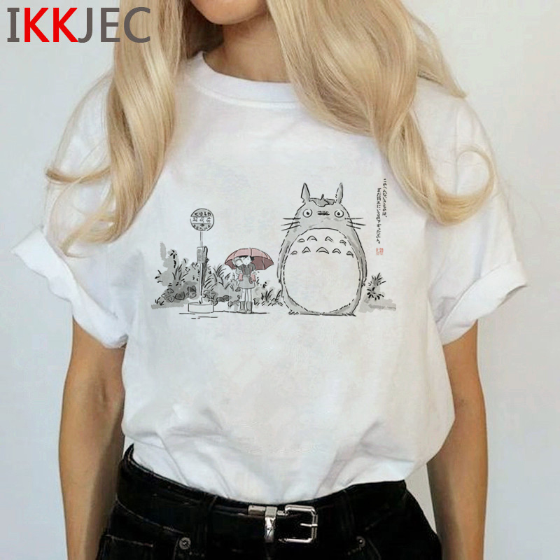 Totoro Harajuku Studio Ghibli T Shirt Women Miyazaki Hayao Ullzang Cute T-shirt Funny Cartoon Tshirt 90s Graphic Top Tees Female 22