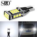 W16W T15 светодиодный лампы 921 912 W16W светодиодный светильник 3030 SMD Canbus OBC Error Free светодиодный запасной светильник заднего хода автомобиля Лампа к...