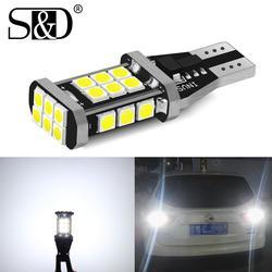 W16W T15 LED Bulbs 921 912 W16W LED Lamp 3030 SMD Canbus OBC Error Free LED Backup Light Car Reverse Lamp Xenon White DC12V