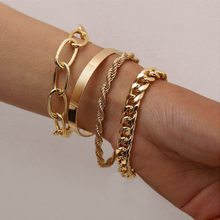 New Bohemian Gold Pearl Beads Bracelet Chains Multilayer Bracelet for Girls Punk Jewelry 2021 trend Lady charms Women's Bracelet