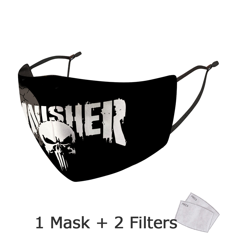 Disney Marvel Superhero Spiderman Mask With Filter Adult Anti Dust PM2.5 Windproof Reusable Mouth Mask Washable mascarillas 2