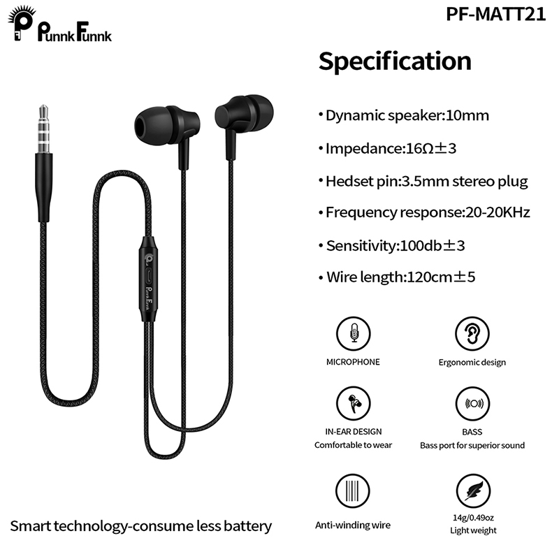 H448e15f399a343fa991c58a50937b5b3E - PunnkFunnk Wired Earphones Sport headset 1.2M  In ear  Deep Bass Stereo Earbuds W/Mic For iphone samsung huawei xiaomi vivo oppo