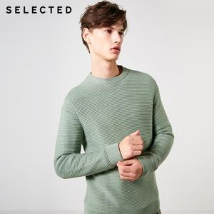 Image 1 - SELECTED Mens 100% Cotton Round Neckline Pullovers Winter New Regular Fit Knitted Sweater S