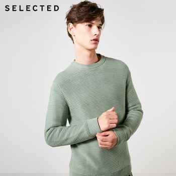 SELECTED Men's 100% Cotton Round Neckline Pullovers Winter New Regular Fit Knitted Sweater S | 419124502 - DISCOUNT ITEM  62% OFF All Category