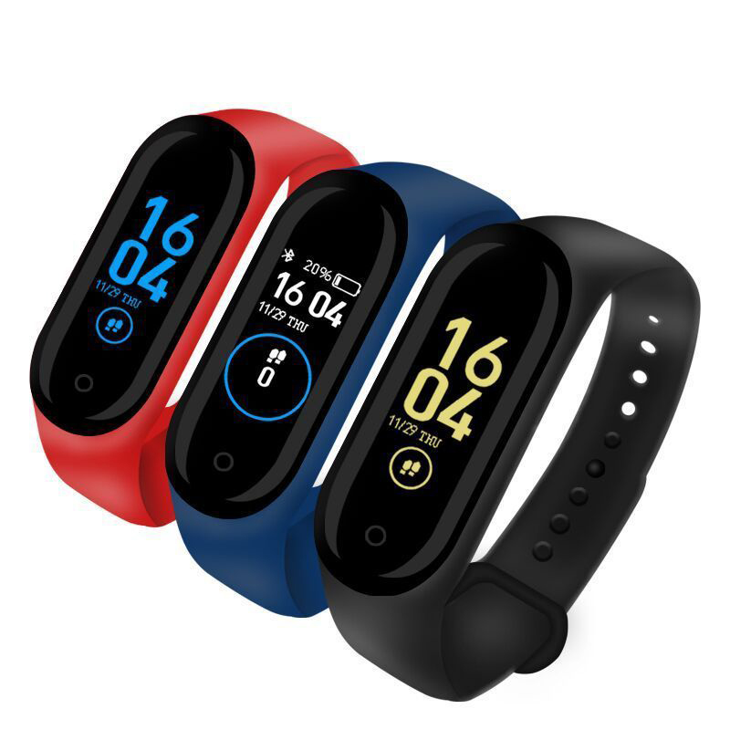 Bluetooth <font><b>Smart</b></font> <font><b>Watch</b></font> <font><b>M4</b></font> Heart Rate Blood Monitor SmartWatch Fitness Tracker kids Women SmartWatch for Andriod ios smartPhone image