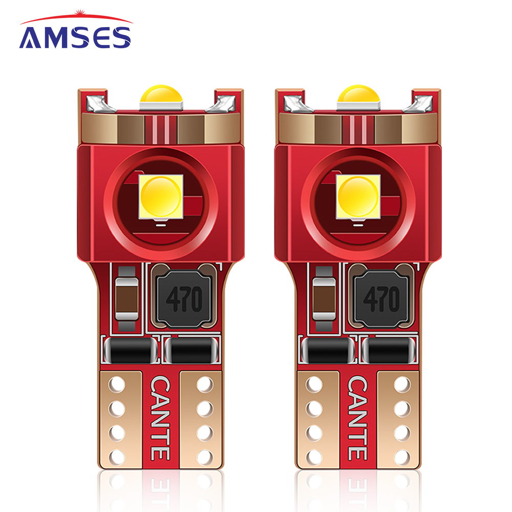 2Pcs W5W T10 <font><b>LED</b></font> <font><b>Bulb</b></font> Canbus for <font><b>BMW</b></font> <font><b>E60</b></font> E36 AUDI A4 B8 B6 A3 8P Golf 4 7 Passat Peugeot Ford Car <font><b>Interior</b></font> Light Signal Lamp 12V image