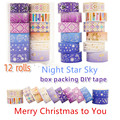 Purple star gold foil Japanese laser washi tape set masking tapes for Scrapbooking DIY Stationary 2021new Valentines Gift