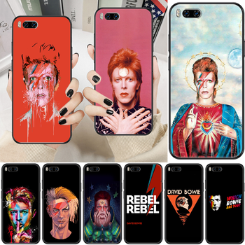Rock David Bowie Phone case For Xiaomi Mi Max Note 3 A2 A3 8 9 9T 10 Lite Pro Ultra black luxury coque pretty hoesjes fashion image