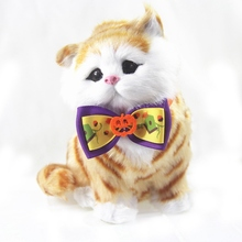 6Pcs/lot Pet Polyester Ribbon Bow Tie For Halloween Cats Festival Decoration Accessories (Pattern Random)