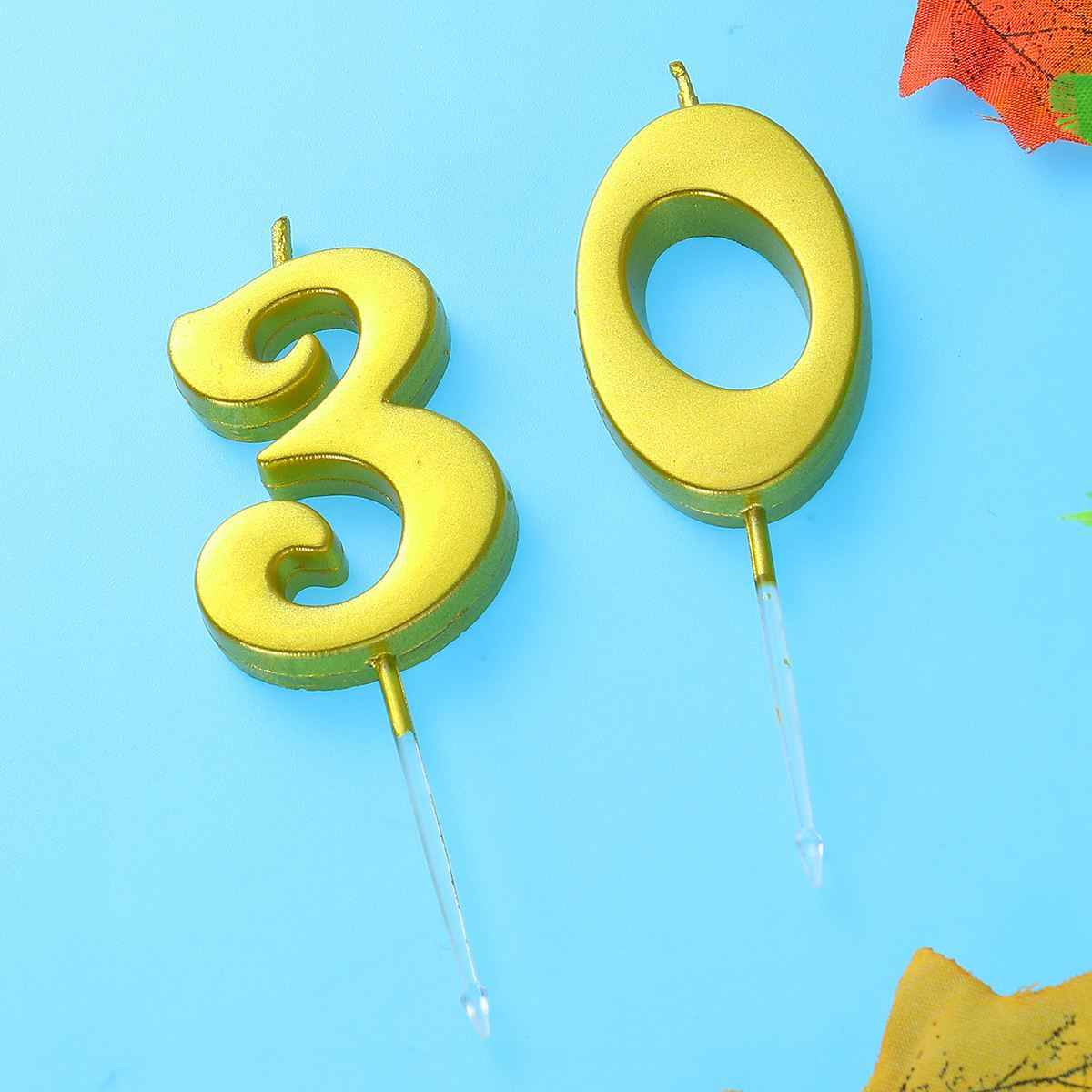 2pcs 30 Birthday Candle Number Decoration Bithday Cake Topper Candles Party Supplies