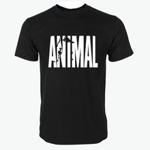 New ANIMAL tracksuit t shirt men muscle shirt Trends in fitness cotton Hip hop clothes for man bodybuilding Tee(China)