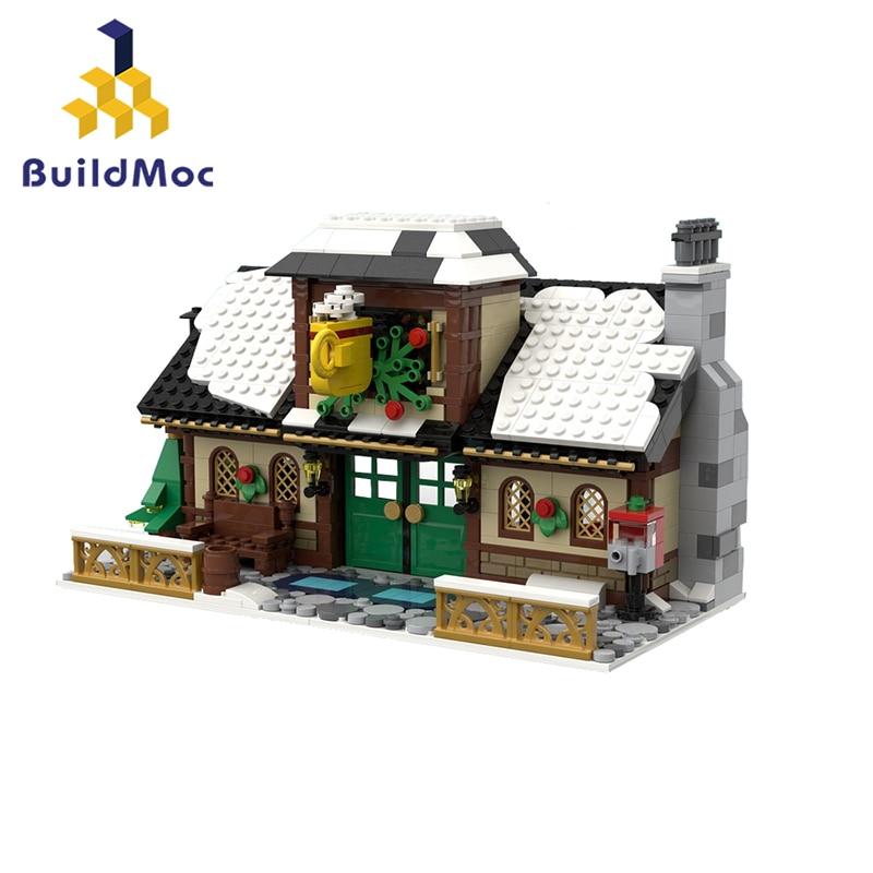 construção papai noel moc tijolos brinquedos presentes
