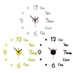 Домашний Декор 3D настенные часы современные большие настенные часы самоклеящиеся настенные стикеры креативные акриловые зеркальные часы ...