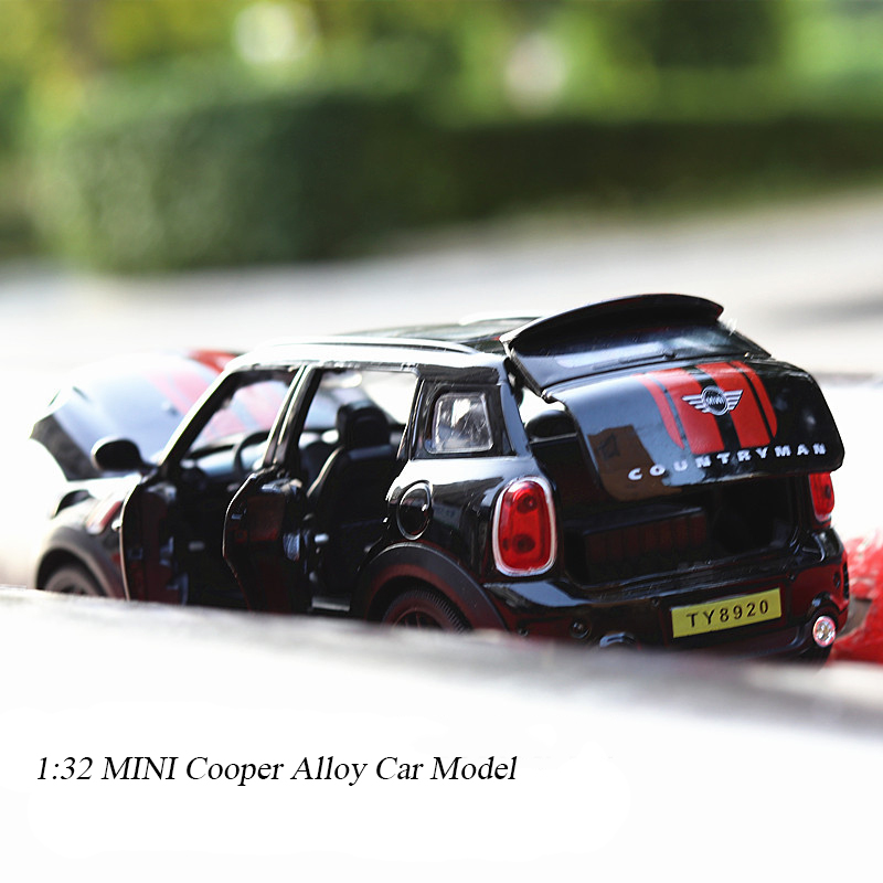 1:32 Mini Cooper Alloy Model Car Diecasts & Toy Vehicles Cars Model Miniature Scale Model Car Toys For Children Kids Gifts
