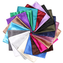 90*90cm 23 Colors Solid Silk Scarf for Women Kerchief Hijab Satin Neck Scarf Square Shawls and Wraps Muslim Head Scarf