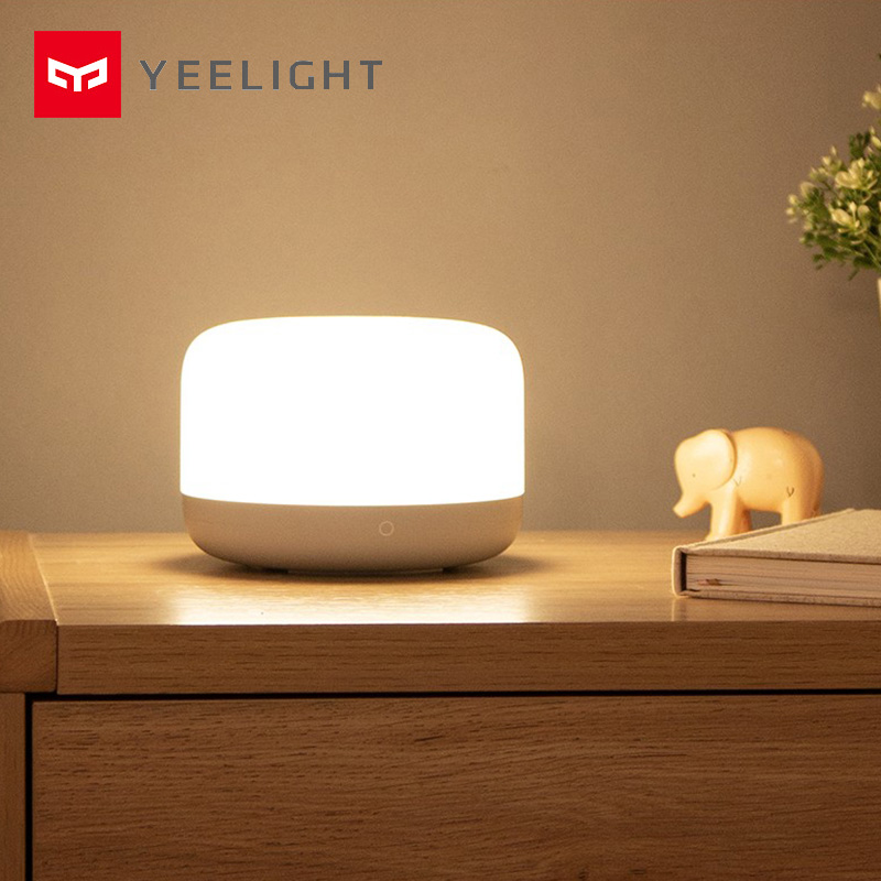 Yeelight Smart LED Bedside Lamp Colorful Night Light Table Lamp Soft Bright  APP Voice Control Support Apple Homekit And Mijia