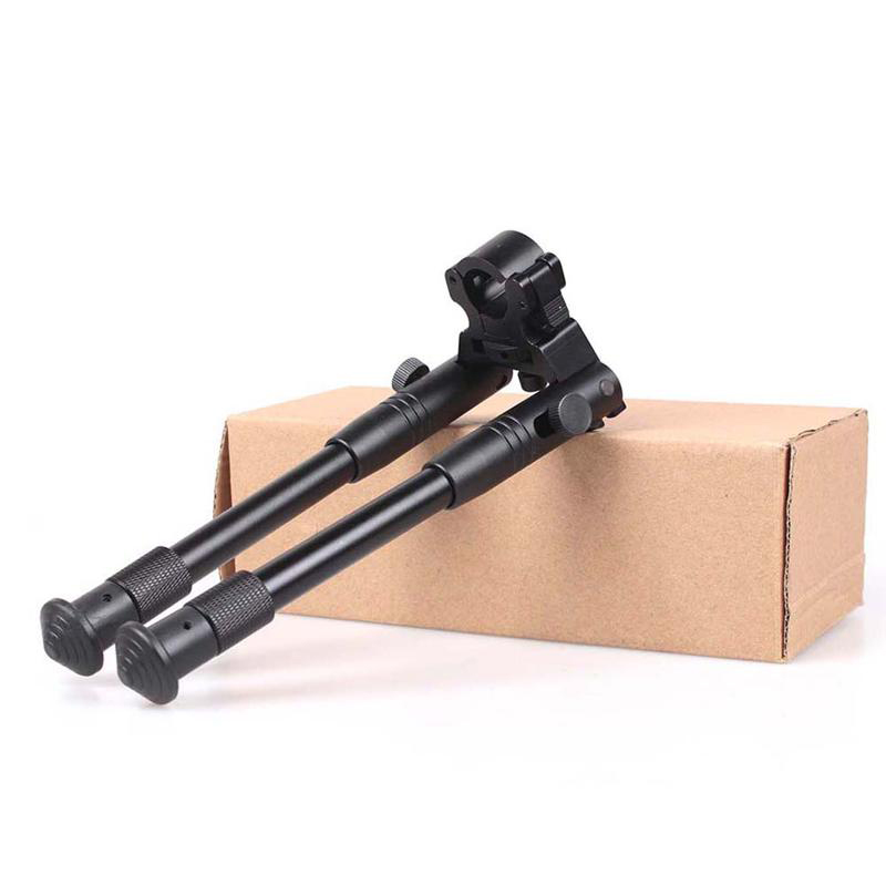 6 Inch Round Head Bipod Multi-function Adjustable Camera Two Pin Bracket Outdoor sports Tactical CS Toy Gun Accessories XA115Y