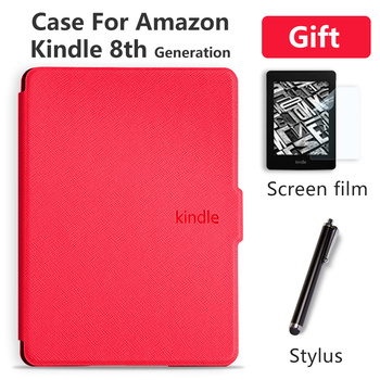 Case Cover for Amazon Kindle 8th Generation 2016 PU Leather Case for Kindle 8 Generation Ultra Slim Thin Magnetic Funda new design case for amazon 2016 kindle 8th generation 6 ereader slim protective flip smart cover pu leather screen protector
