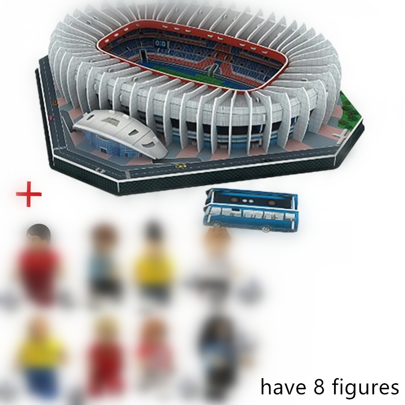 HOT NEW Jigsaw 3D Puzzle Architecture Stadio France Parc Des Princes Football Stadiums Toys Model Sets Building Paper