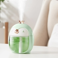 Portable Ultrasonic Humidifier Cute Pet Penguin 300ML Air USB Aroma Essential Oil Diffuser with Color Night Lamp Humidifiers     -