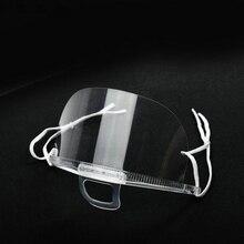 500 Stks/pakket Masker Bescherming Transparante Catering Chef Masker Stofdicht Masker Masker Keukengerei