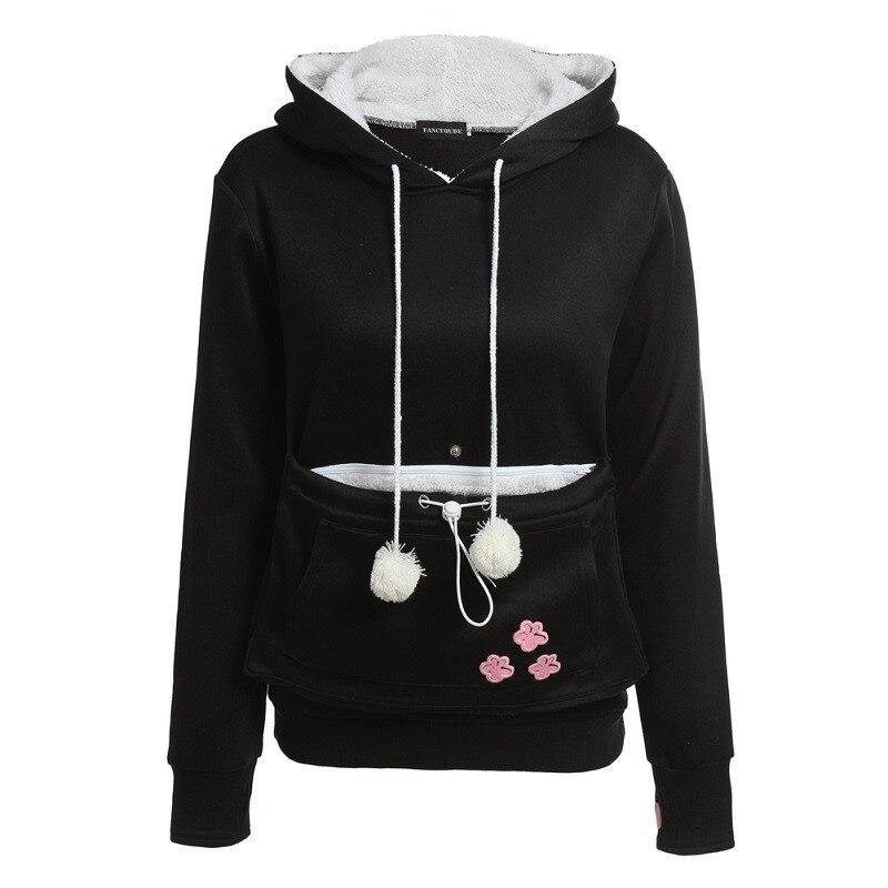 RAISEVERN Cat Lovers Hoodie Kangaroo Dog Pet Paw Dropshipping Pullovers Cuddle Pouch Sweatshirt Pocket Animal Ear Hooded 2019