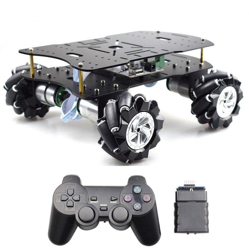 STM32F103rct6 PID Kit de châssis de voiture Robot de roue mécanique de contrôle en boucle fermée avec PS2/HC-06 Bluetooth pour projet de tige de Robot bricolage
