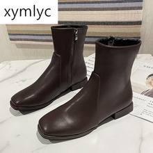 Женские кожаные ботинки полуботинки женская зимняя обувь на