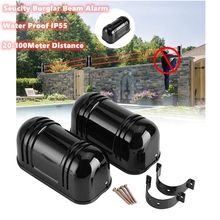Waterproof Outdoor Perimeter Wall Barrier Two Beam Detector Active Infrared Intrusion Fence Sensor 20m~100m for Burglar Alarm new arrival infrared detector intrusion alarmburglar alarm abt 100 photoelectric dual beam perimeter fence window outdoor