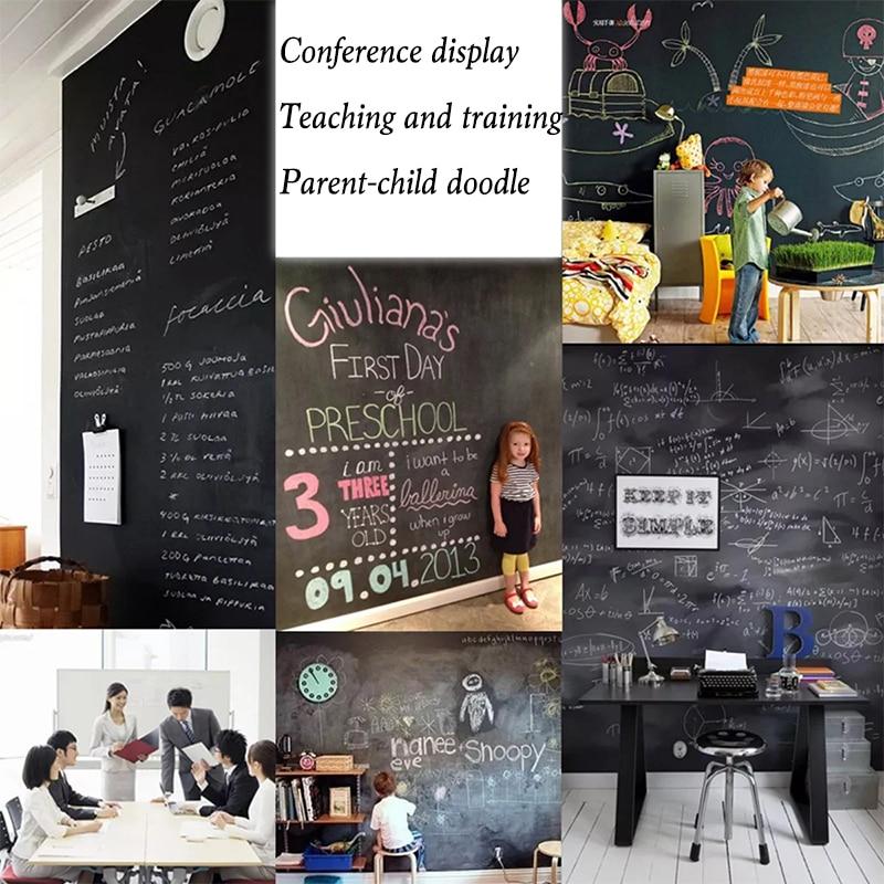 Teaching Graffiti Writing Practice Erasable Chalk Self-adhesive Wall  Whiteboard550*600mm  Blackboard Wall Fridge Sticker