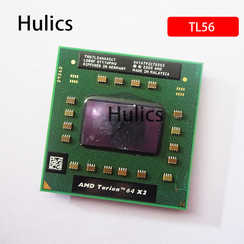 Hulics оригинальный AMD Turion 64 X2 мобильный технологический Стандартный 56-дюймовый TL56 двухъядерный двухпотоковый ЦПУ процессор TMDTL56HAX5CT