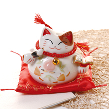 5 Inch Lucky Cat Ceramic Home Decorations Shop Lucky Fortune Decoration Christmas Gift Birthday Gift