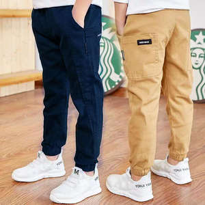 Boys Pants Trousers Autumn Cotton Children Splicing 4-13-Years-Old Korean Hot And Spring