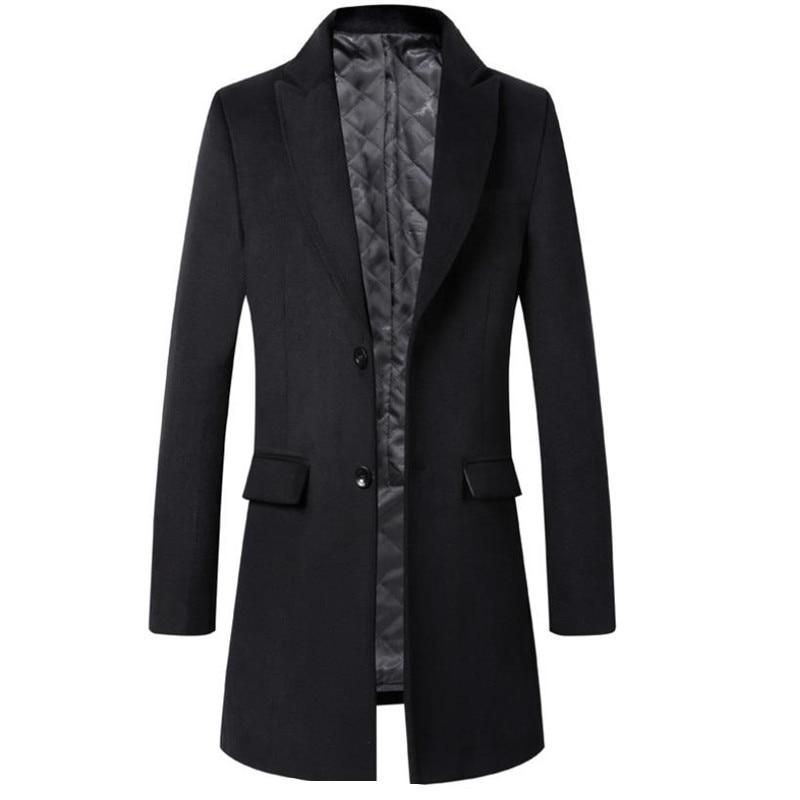 Men Winter Autumn Wool Coats Parkas Jackets Men Casual Fashion Slim Fit Big Size Cotton Coats Jackets coat men