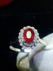 Image 3 - Jóias finas puro 18 k ouro branco real natural pombo sangue vermelho rubi 0.98ct diamantes jóias anéis femininos para mulheres anel fino