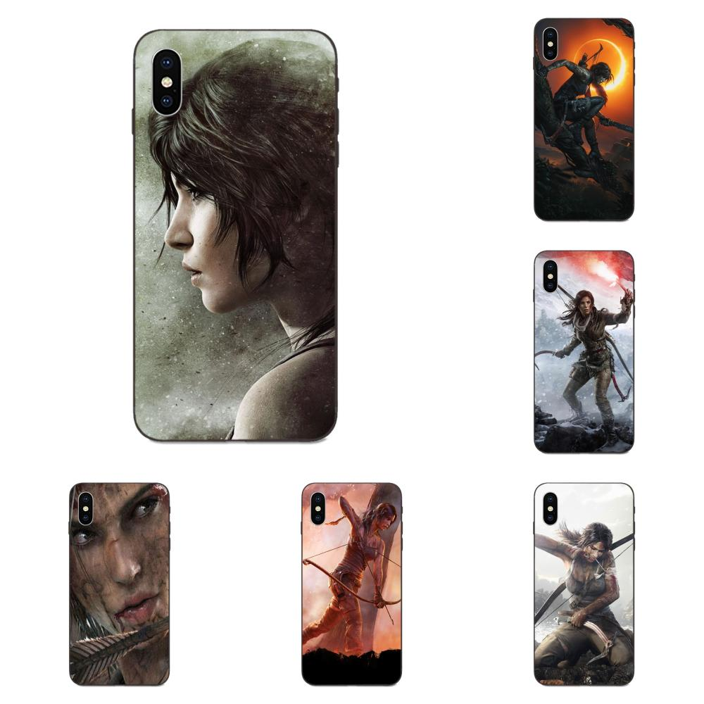 Soft TPU Phone Cover Case Coque For Apple iPhone X XS Max XR 4 4S 5 5S SE 6 6S 7 8 Plus Tomb Raider Wallpaper Newest Super Cute image