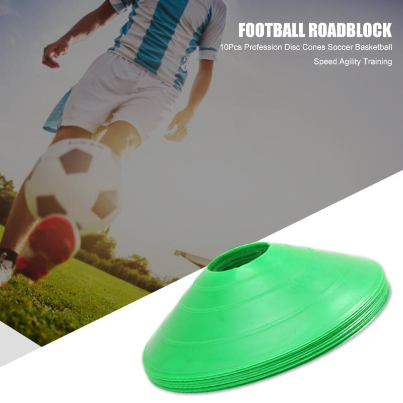 10pcs/lot Durable  Football Cross Speed Training Discs Outdoor Sports Soccer Agility Training Sign Disc Cones Space Marker