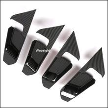 Wooeight 4Pcs 내부 ABS 탄소 섬유 스타일 도어 핸들 커버 장식 스티커 트림 맞는 도요타 RAV4 2019 LHD 액세서리
