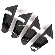 Wooeight 4Pcs Inner ABS Carbon Fiber Style Door Handle Cover Decoration Sticker Trim Fit For Toyota RAV4 2019 LHD Accessories