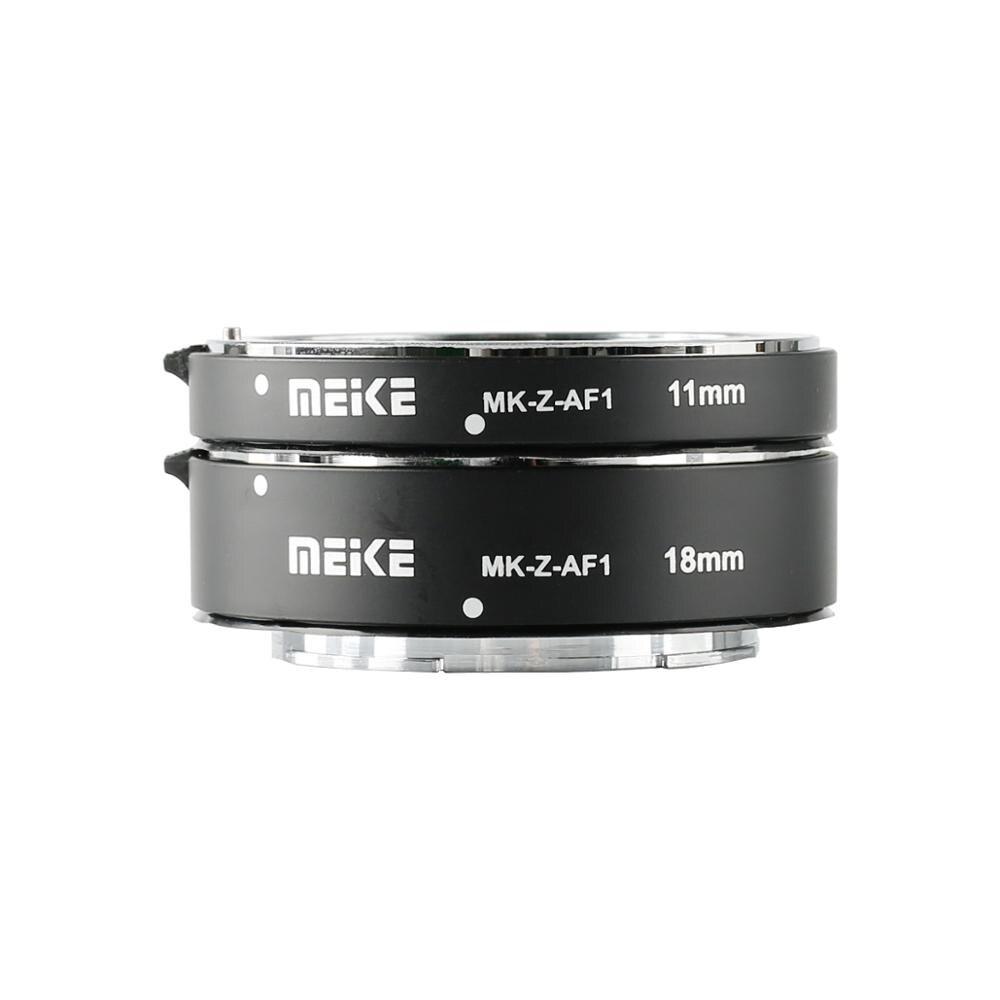 MEKE Meike MK-Z-AF1 métal AF Macro Tube d'extension Auto Focus adaptateur anneau 11mm 18mm pour Nikon Z6 Z7