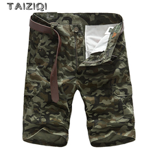 TAIZIQI Summer Fashion Camouflage Cargo Shorts Men  Military Safari Style For Mens 6886