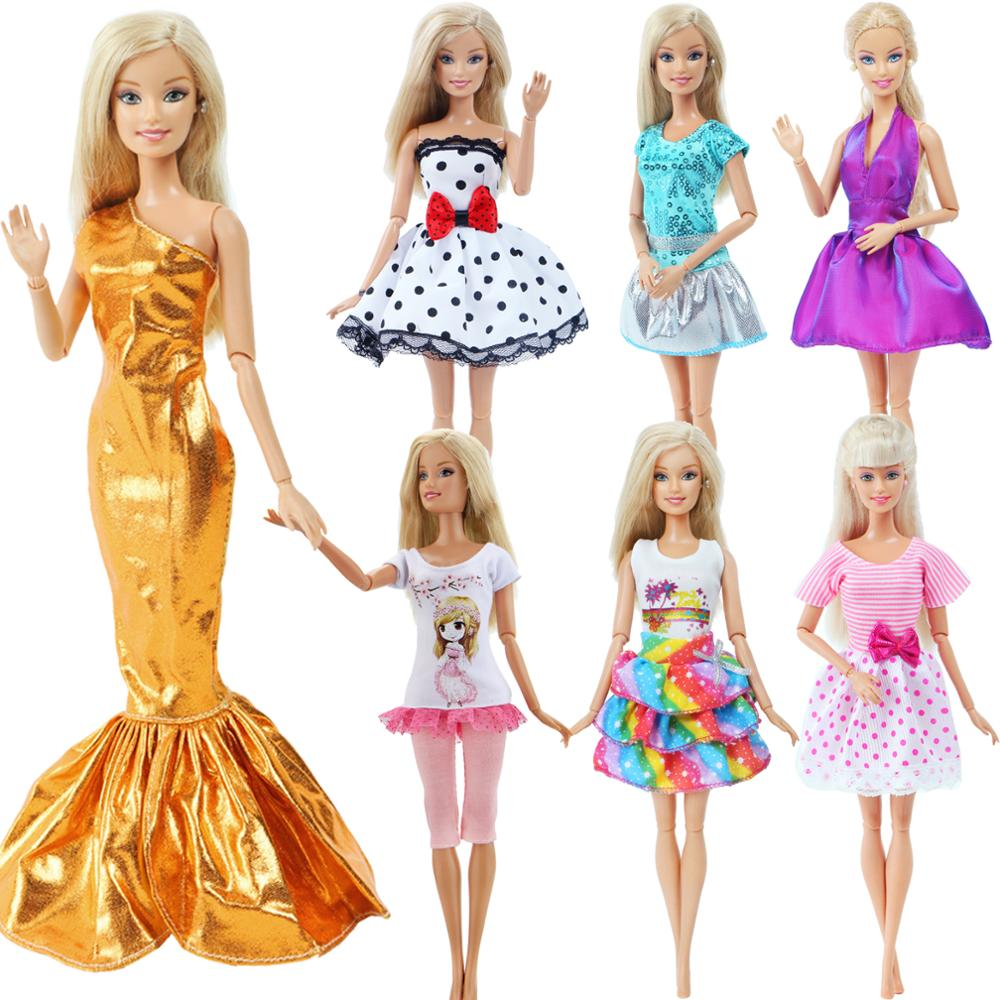 Handmade Doll Dress For Barbie Doll Dating Princess Short Gown Skirt Daily Pants Tops Fashion Doll Clothes Accessories 12''
