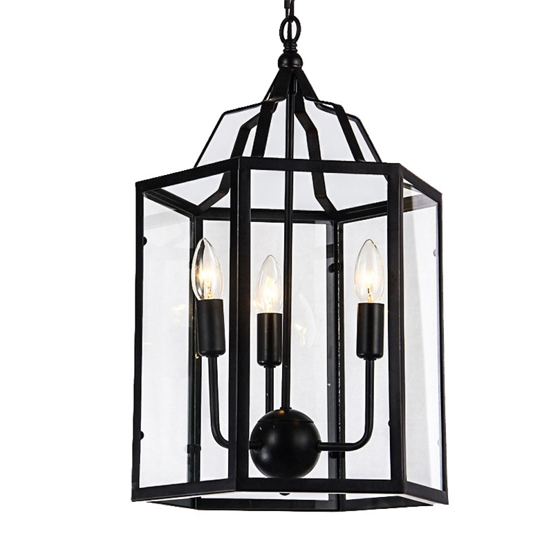 Retro Industrial Pendant light American country retro Birdcage lamp Creative restaurant bar home lighting iron cage with shade