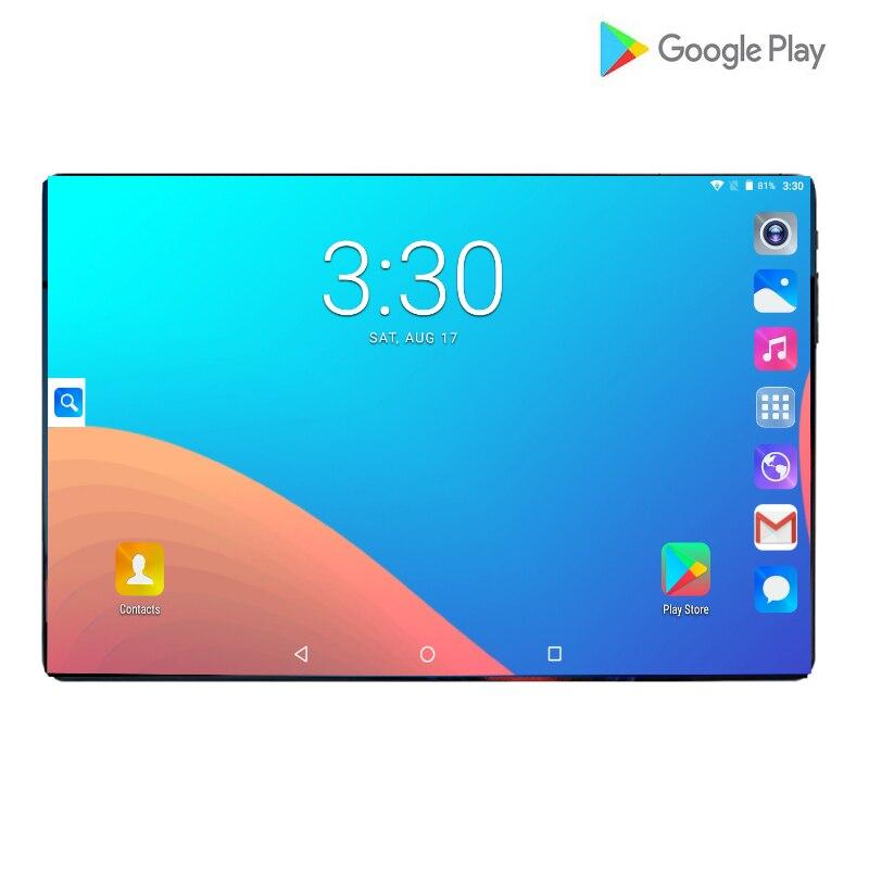2019 nouveau Design 10.1 pouces android 9.0 tablette Pc 6GB et 64GB double carte SIM 1280*800 HD grand écran double caméra 8 tablettes Core