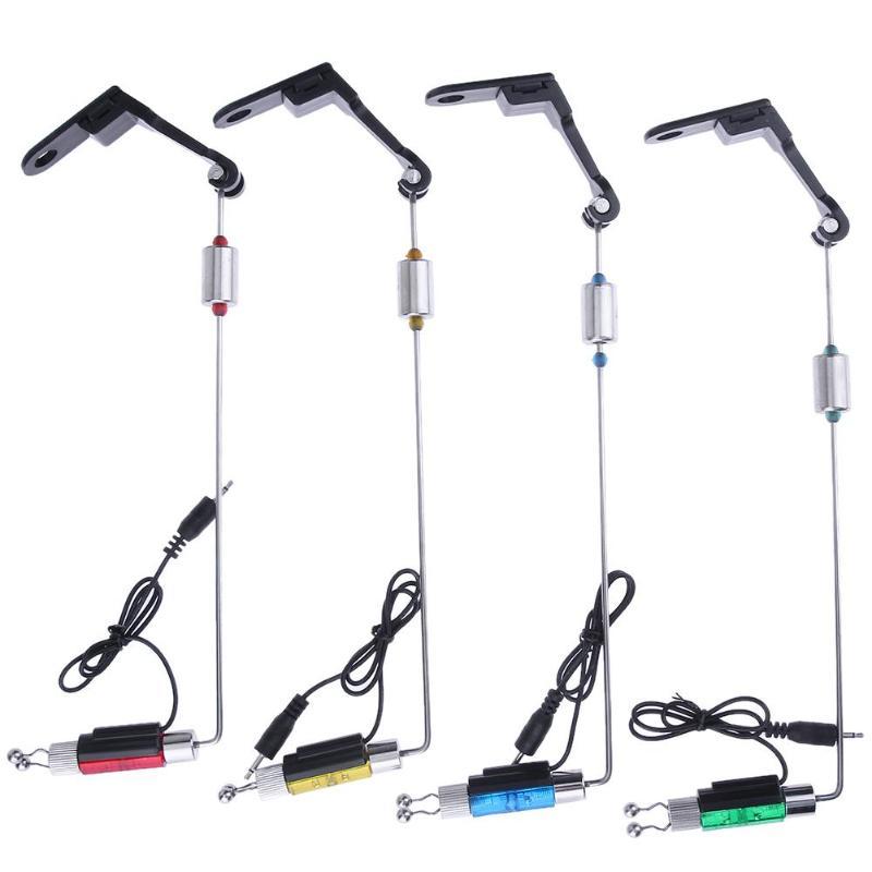 1/4pcs Electronic Illuminated Carp Fishing Swinger Bite Alarms Indicator Set