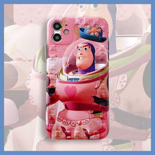 Cartoon Pink Buzz Lightyear Toy robot phone case For iphone 11 pro Max SE 7 8 X XS XR plus soft silicone protective cover coque(China)
