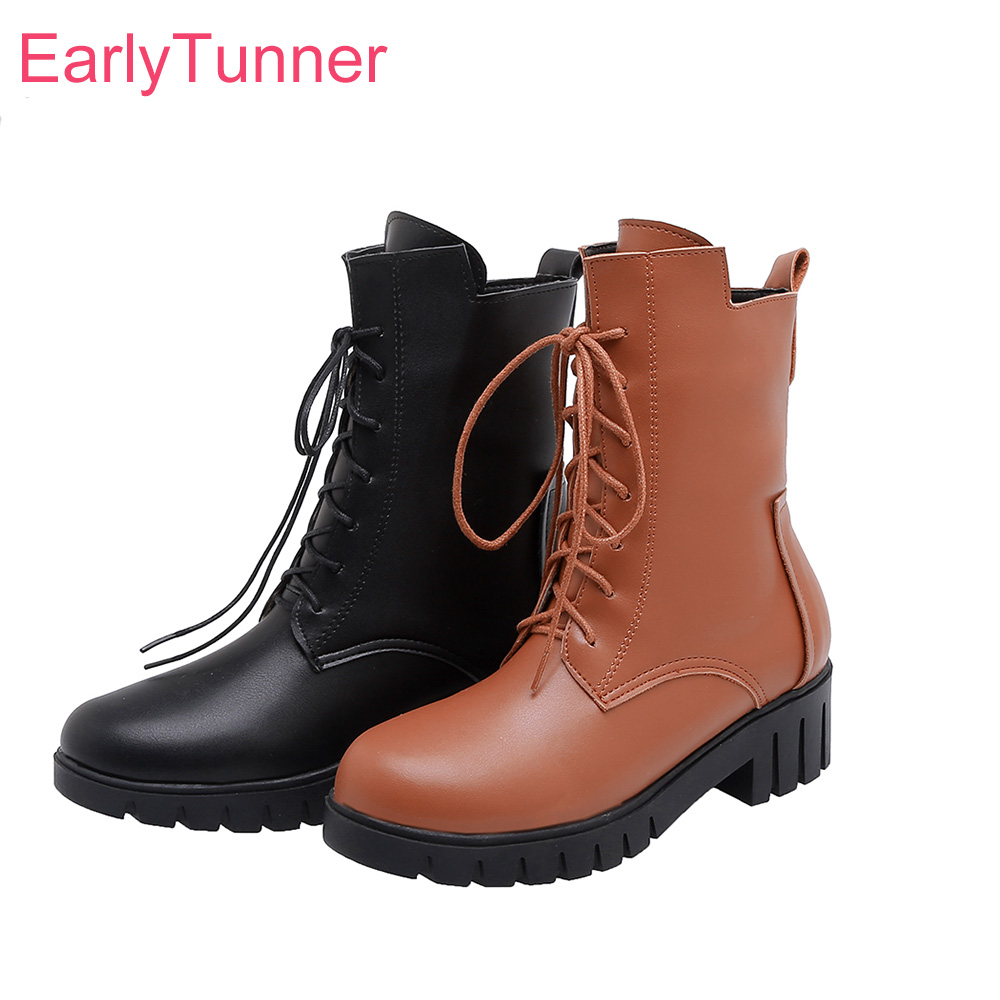 brown platform combat boots clearance
