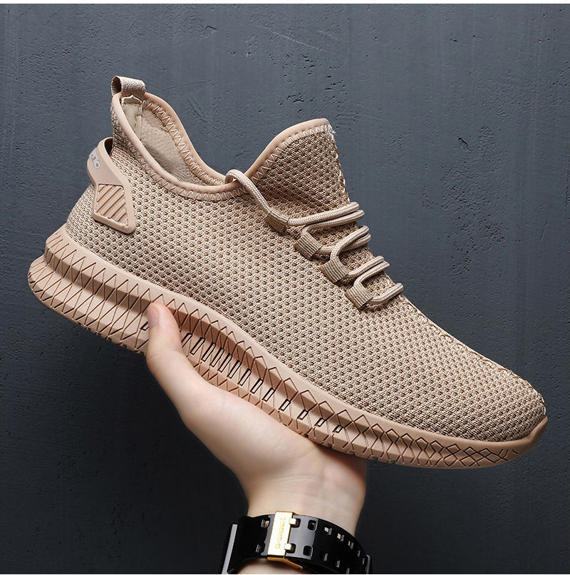 H4490f01a1f514732a81bf48e215de917L - Men Sneakers Black Mesh Breathable Running Sport Shoes Male Lace Up Non-slip Men Low Athletic Sneakers Casual Men Shoes